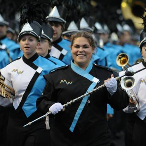 Members of a marching band